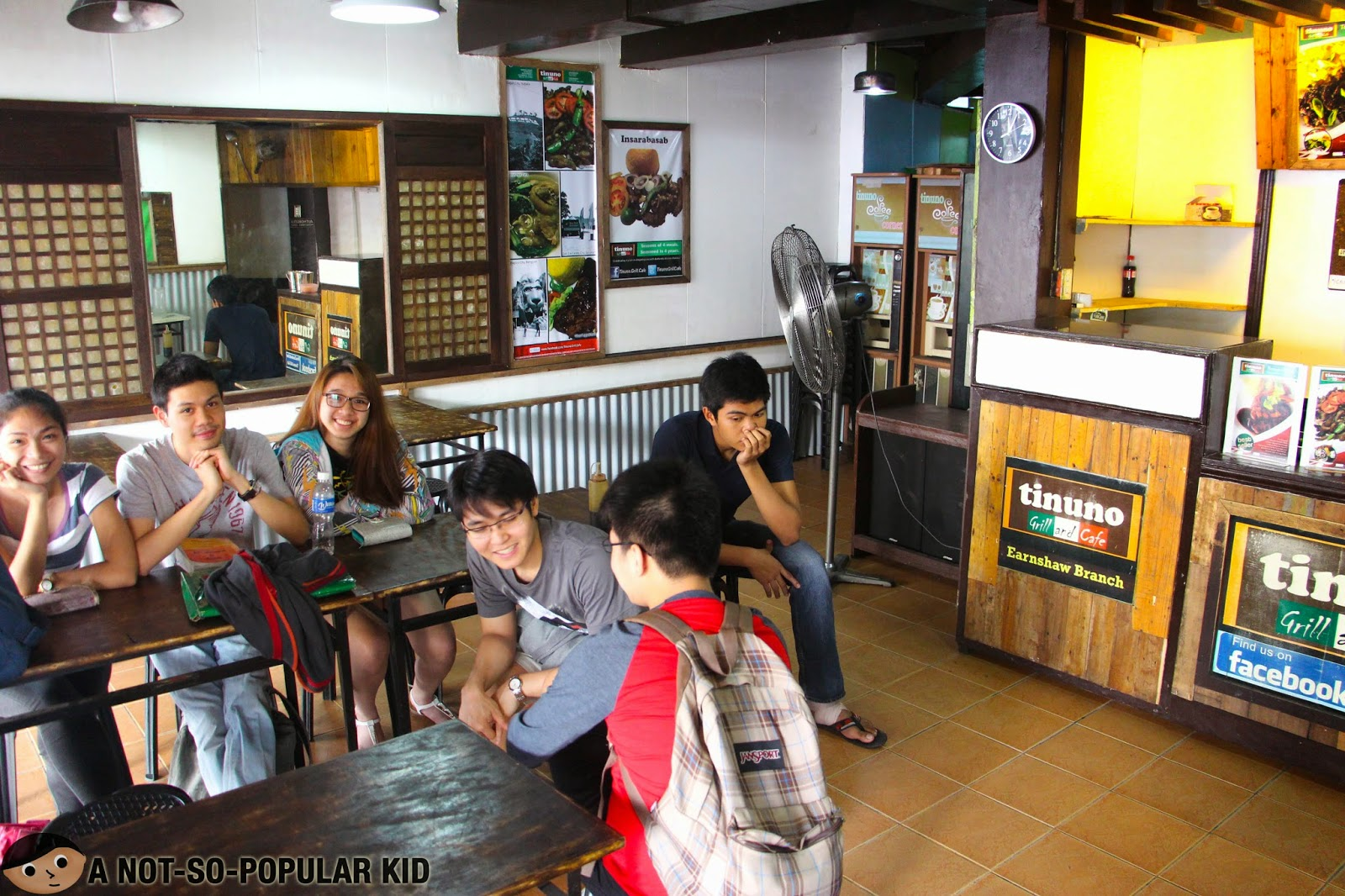 Interior of Tinuno showing my foodie friends waiting for the orders