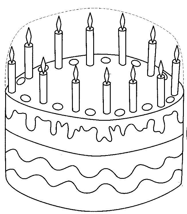 results for desenho de bolo de aniversário para colorir e imprimir