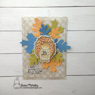 Hedgehog Hello a card by Diane Morales| Hedgehog Hollow Stamp Set by Newton's Nook Designs