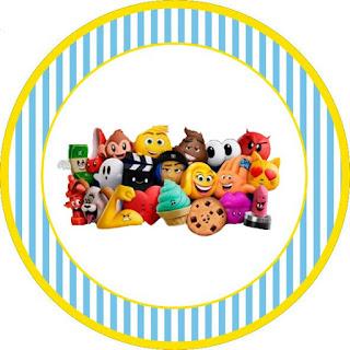 Toppers o Etiquetas de Emoji para imprimir gratis.