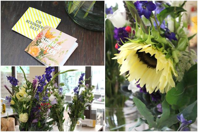 Kolener bastians Baeckerei Blumen Bouquet richtig arrangieren mit bloomon Strauss Workshop Jules kleines Freudenhaus