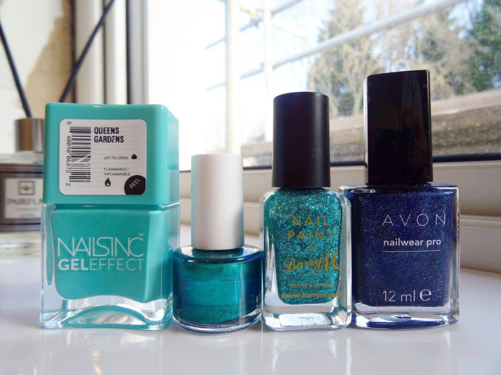 A Huge Nail Polish Declutter Blues and Green Edition