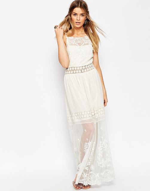 cream lace boho maxu dress, embroidered cream maxi dress,