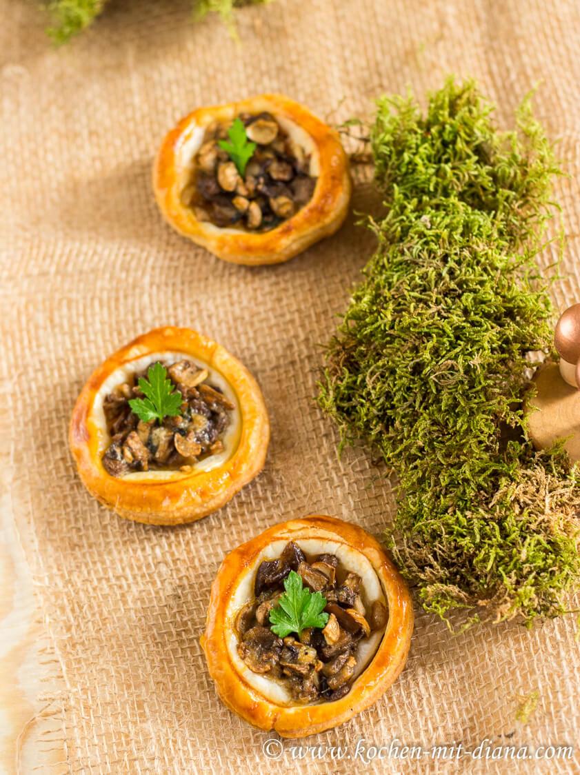 Mushroom tartelettes