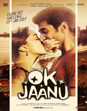 Poster Of OK Jaanu 2017 Hindi 700MB Pre-DVDRip x264 Watch Online Free Download downloadhub.in