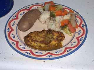Poulet de Moutarde served