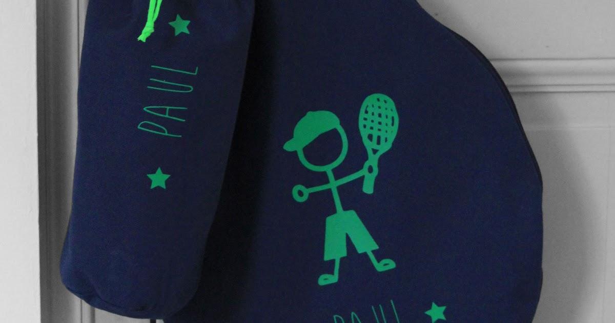 L 39 atelier des petites bauloises housse de raquette for Housse de raquette