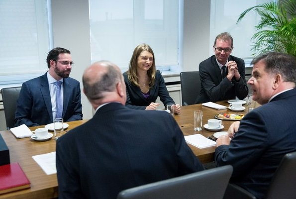Hereditary Grand Duke Guillaume and Hereditary Grand Duchess Stéphanie visited Benelux headquarters in Brussels