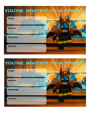 free lego batman invitations