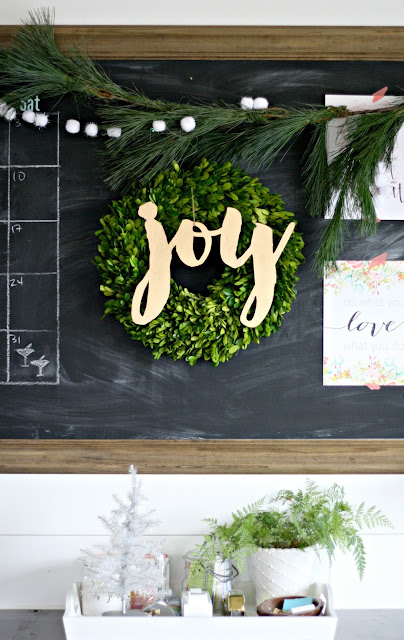 joy boxwood wreath