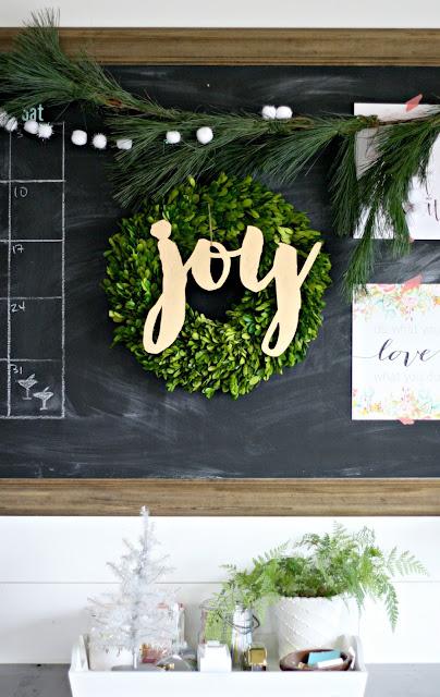 joy boxwood wreath