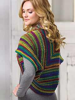 Crochet shrug pattern by April Garwood of Banana Moon Studio for Crochet!