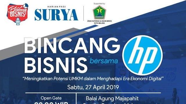 Harian Pagi Surya Gelar Bincang Bisnis Bersama Hewlett-Packard (HP) di Kota Malang