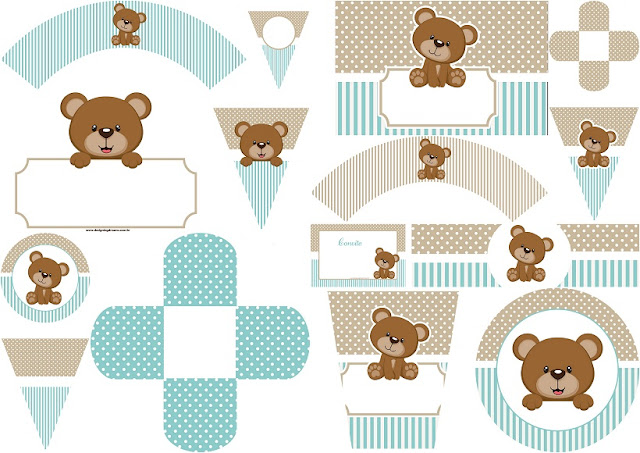 Teddy Bear for Boys: Free Printable Mini Kit.