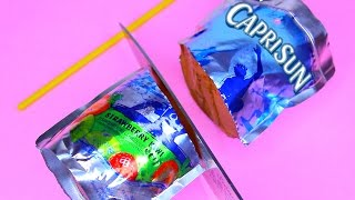 How To Make Real CAPRISUN Drinking Water Pudding Jelly Cooking