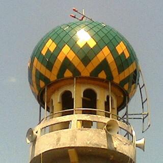 Kubah Masjid bahan panel enamel
