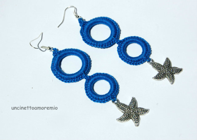orecchini con stelle in argento