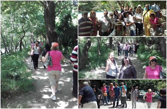 Ομάδα εκδρομέων από τα Γιαννιτσά στα στενά Αχέροντα