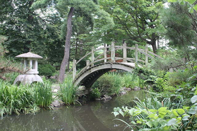 Graceful Japanese Foot Bridge at Fabyan Japanese Tea Garden
