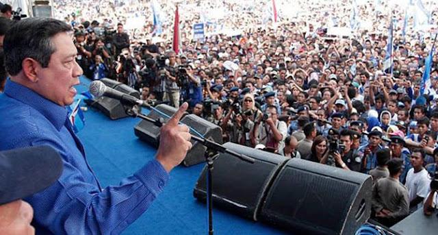 SBY Gencarkan Serangan Kampanye Darat untuk Menangkan Prabowo
