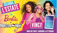 Logo Concorso Celebra l'estate con Barbie e Monster High e vinci Tablet Samsung