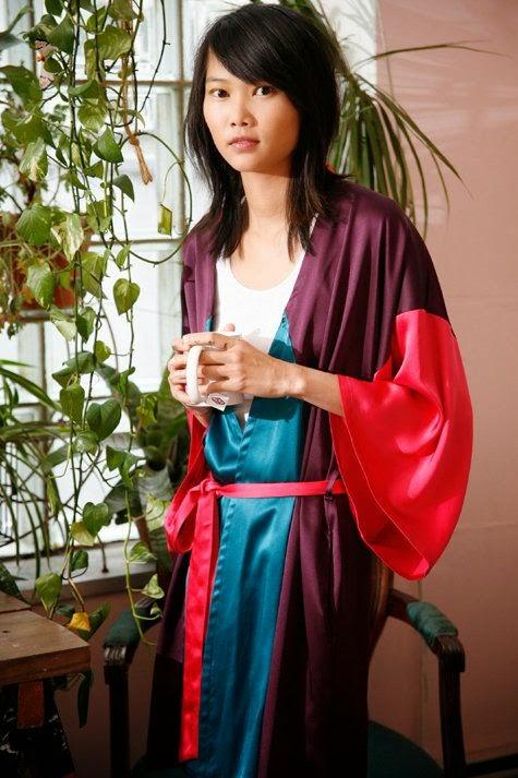 kimono o bata de casa. Patrón gratis