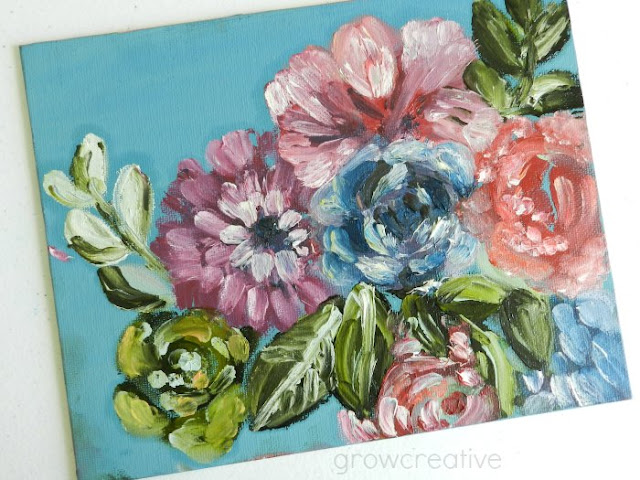 oil flower painting: grow creative blog