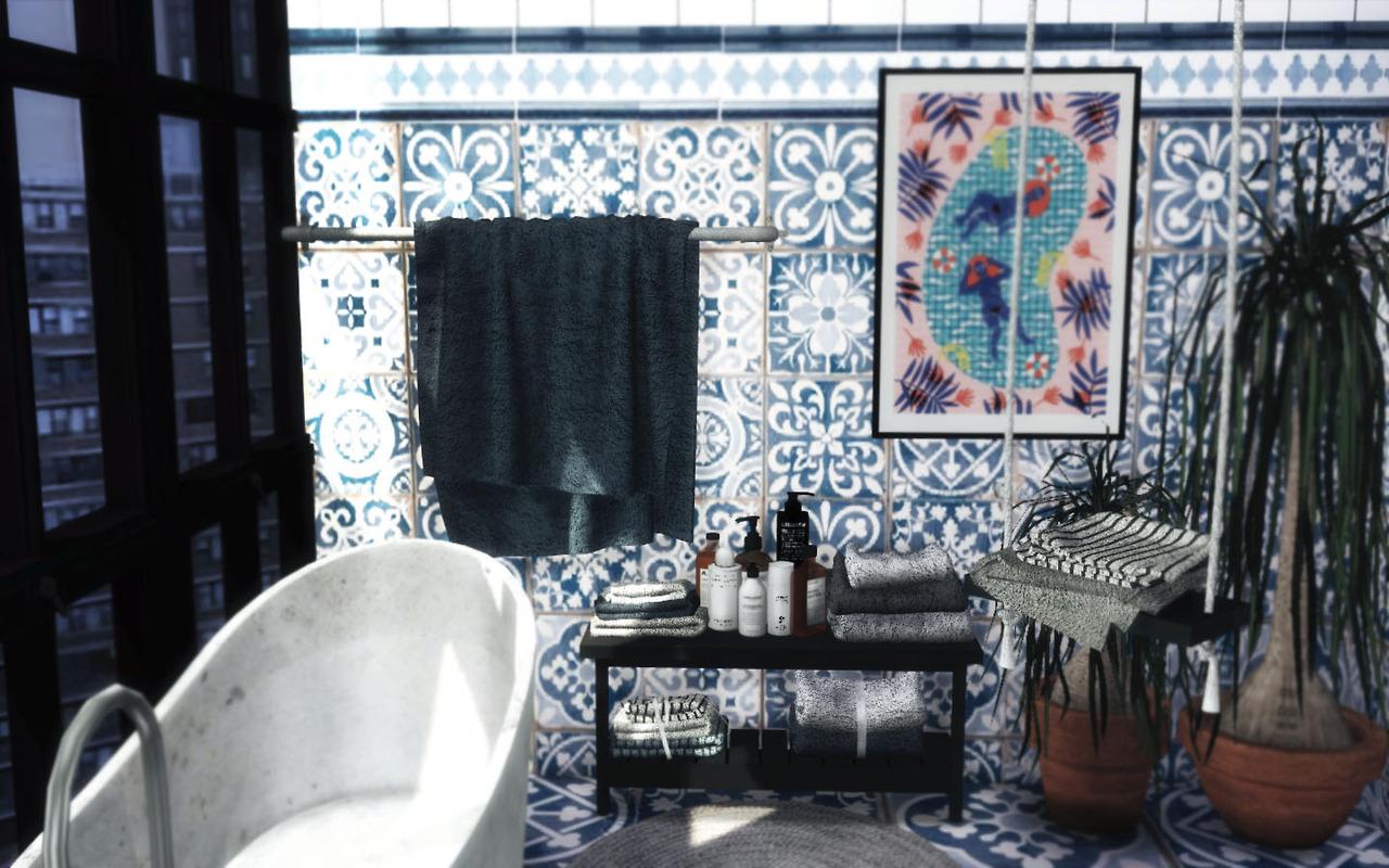 sims 4 cc's - the best: bathroom towels set conversion by novvvas, Badezimmer ideen