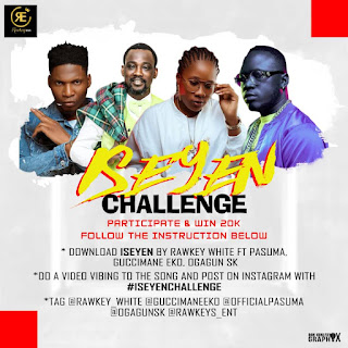 """WIN yourself 20,000 on RAWKEY WHITE """"Ise Yen"""" Challenge"""