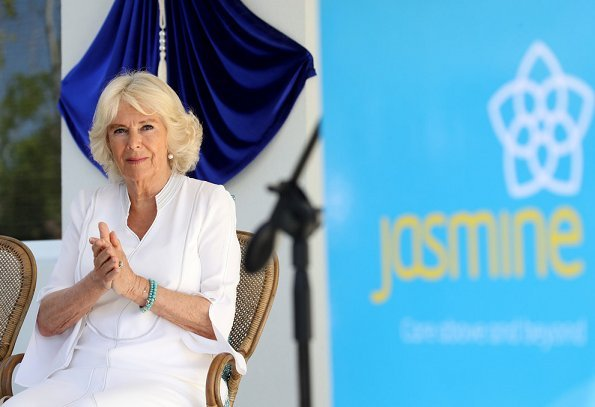 The Duchess of Cornwall visited Jasmine Villa Hospice in Grand Cayman.Jasmine Hospice is a not-for-profit organisation