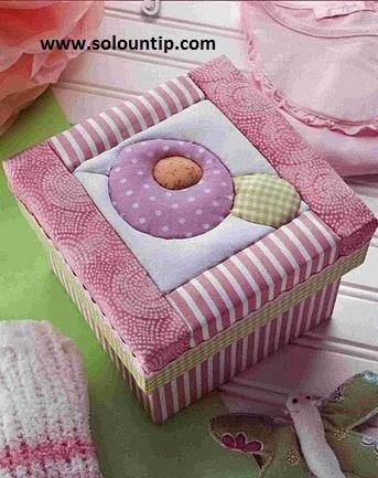 Cajas decoradas con tela - Decoracion de cajas ...