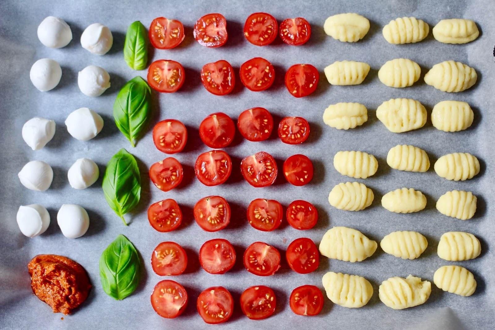 Rezept für Gnocchi Caprese aus dem Backofen