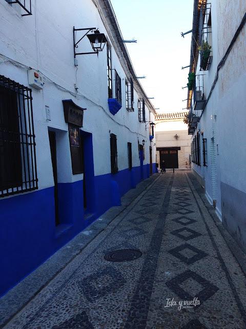 Paseo Almagro calle en azules