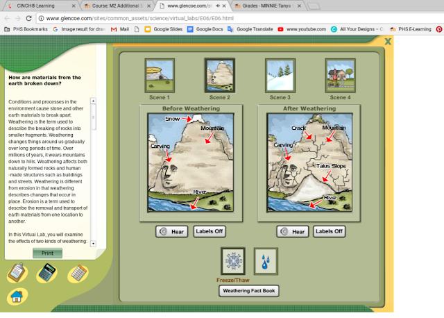 Minnie PHS7 Mr  Gary's Class: Virtual Lab: Weathering