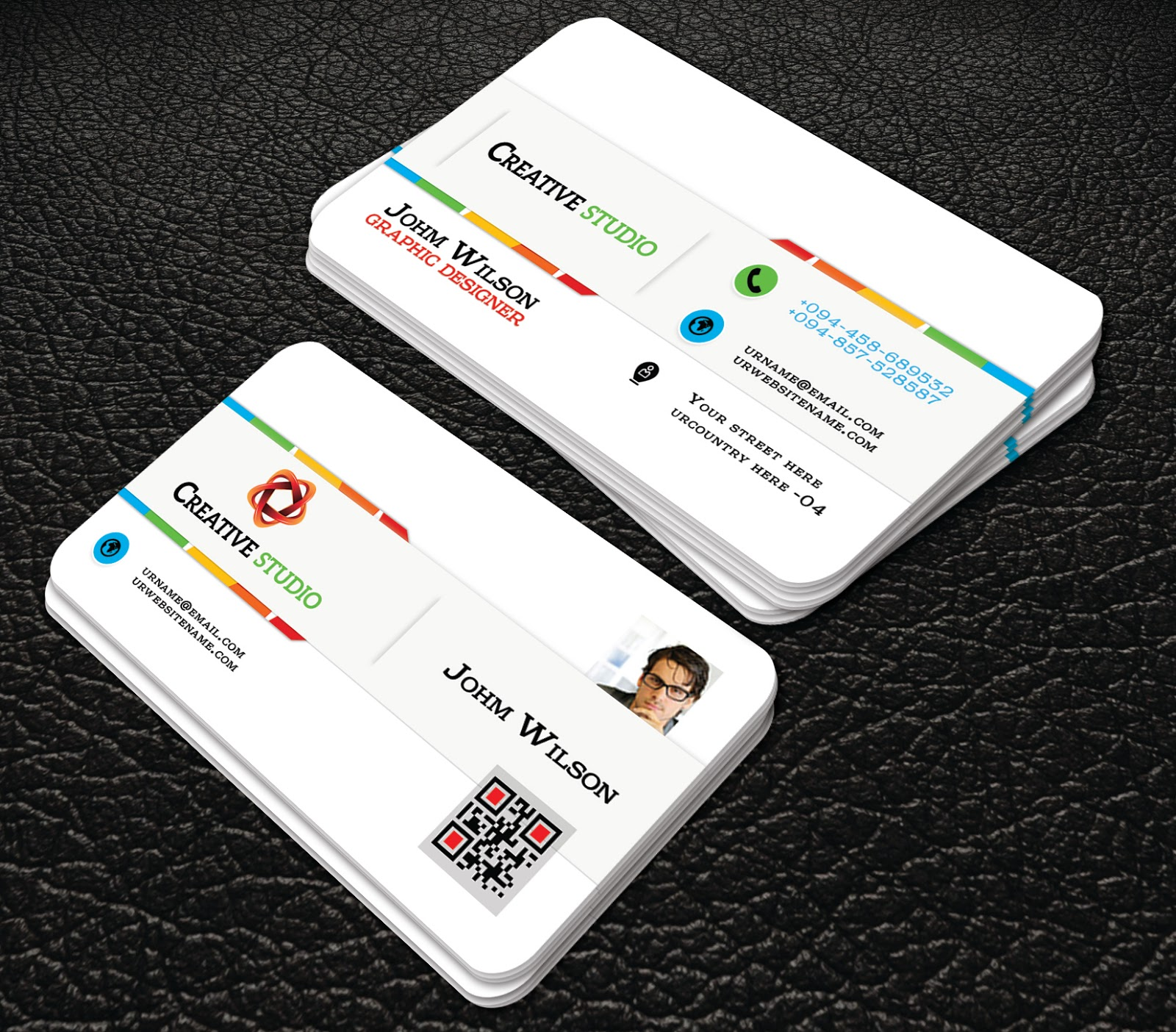 White Colour Professional Business Cards Templates Professional