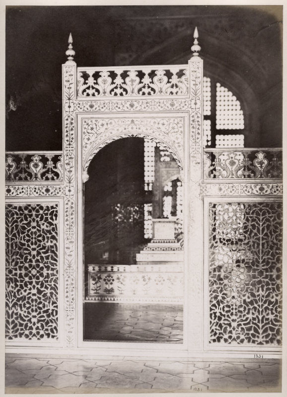 Interior of Taj Mahal, Agra - Circa 1880's