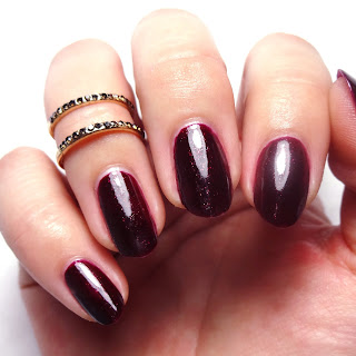 Black Cherry Red Nails