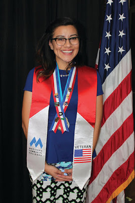 image of female veteran student graduate