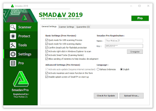 SmadAV Pro 2019 + Working Lifetime Serial Key