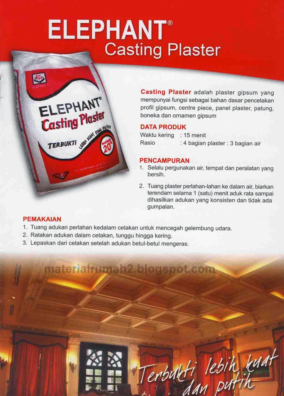 Brosur Katalog ELEPHANT GYPSUM BOARD - Casting Plaster