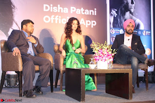 Disha Patani in Beautiful Green Gown at her App Launch 023.JPG