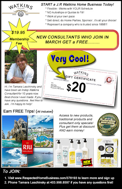 Join Watkins Home Business Free Gift Certificate