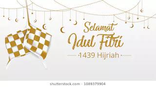 Hari Raya Idul Fitri 1439 H Jumat 15 Juni 2018 M