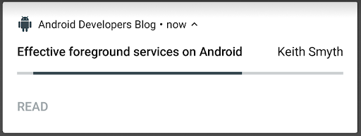 Android Developers Blog: Effective foreground services on Android