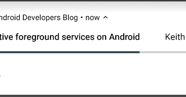 Android Developers Blog: Effective foreground services on