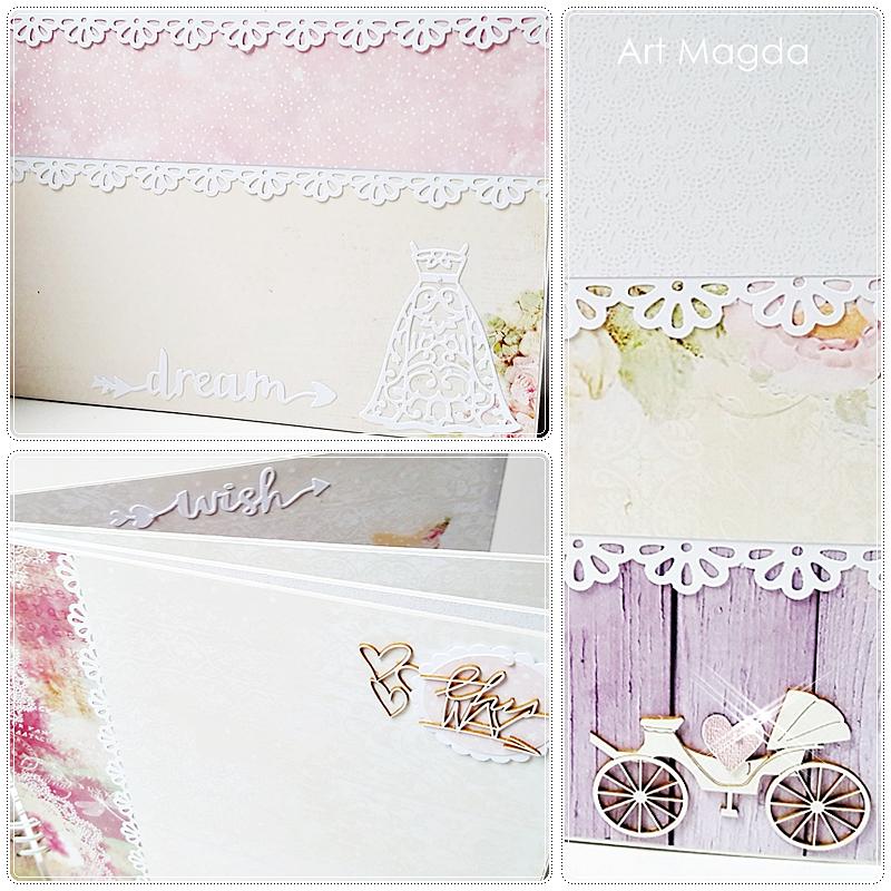 ArtMagda Handmade, albumy ręcznie robione, album ślubny