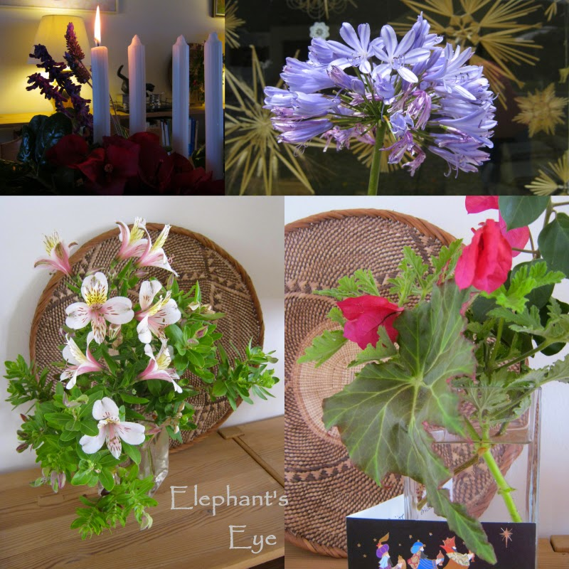 Advent Wreath, straw stars December garden vases