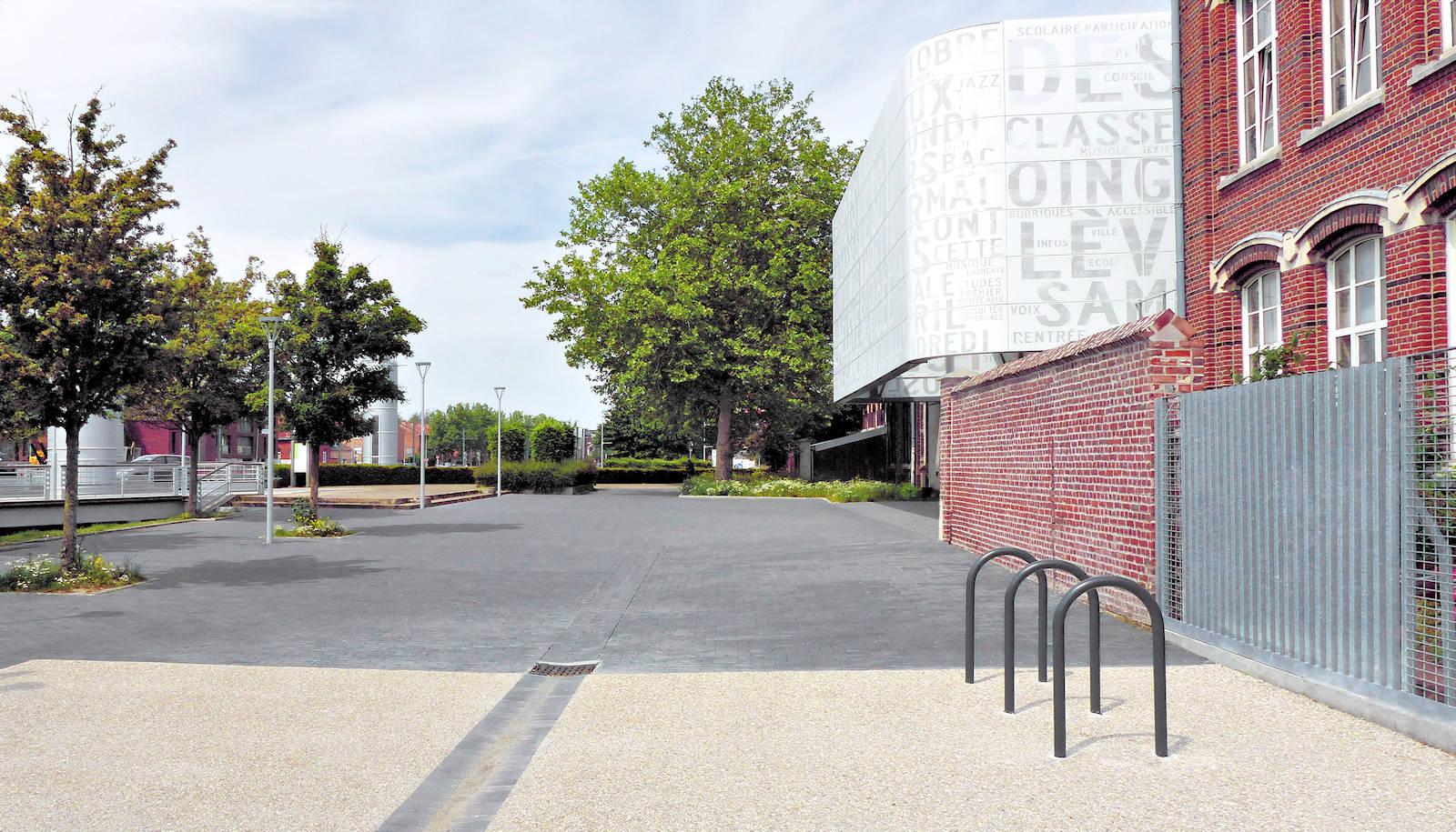 Lycée Gambetta, Tourcoing - Arceaux parking Vélos