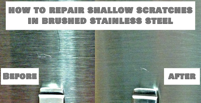 http://fixlovely.blogspot.ca/2013/12/how-to-repair-scratches-in-stainless.html