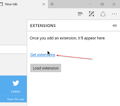 install a browser extension in Microsoft Edge